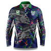 2021 Warriors NRL Skeletor Fishing Shirt