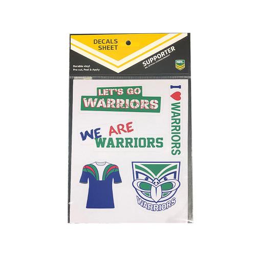 Warriors Sticker Decal Sheet