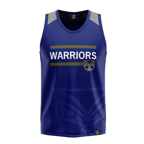 2020 Warriors Authentica Watermark Performance Singlet