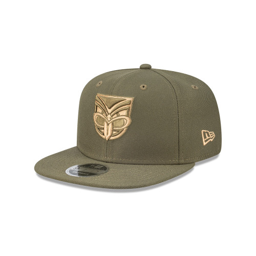 2020 Warriors New Era 950 Flat Peak Cap - Olive