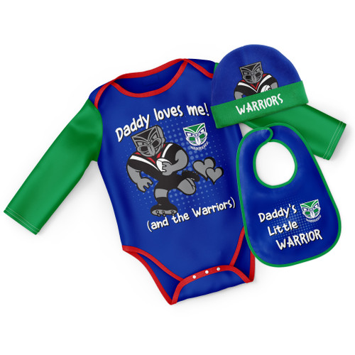 2021 Warriors NRL 3pc Bodysuit Gift Pack