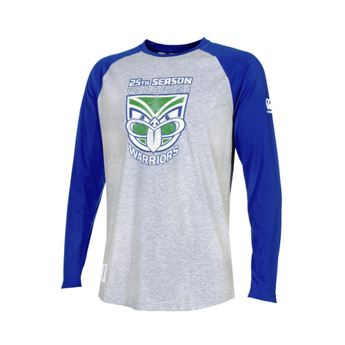 2019 Vodafone Warriors CCC 25th Season Long Sleeve Tee