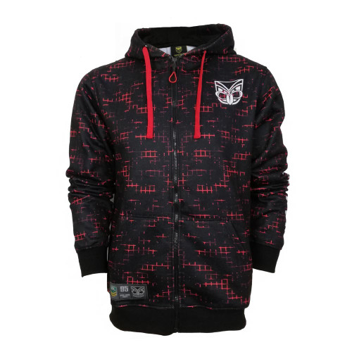2019 Warriors Fire Camo Full Zip Hoodie