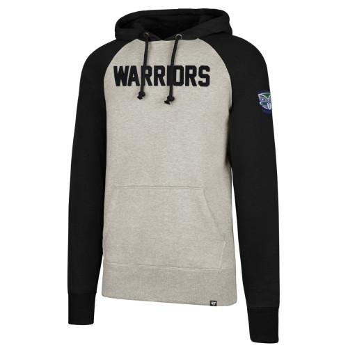 Warriors 47 Brand Headline Raglan Hoodie - Mens