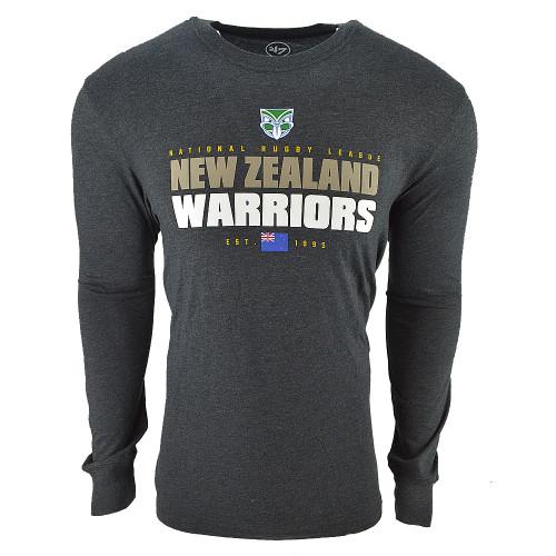 Warriors 47 Brand Stacker Club Long Sleeve Tee - Mens
