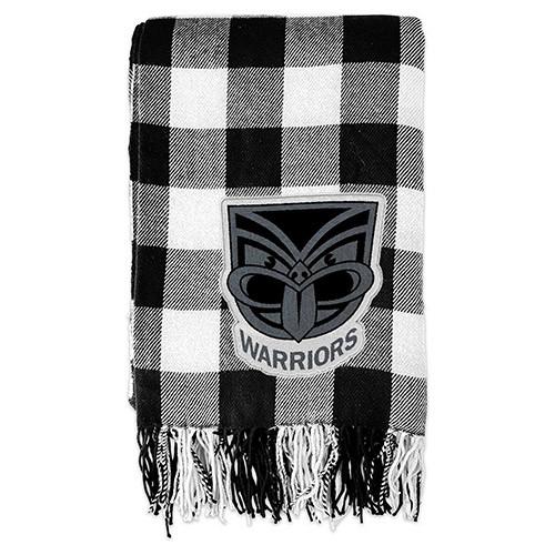 Warriors Tartan Throw Blanket