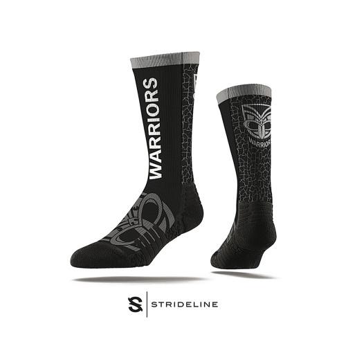 Warriors Strideline Wordmark Crew Socks