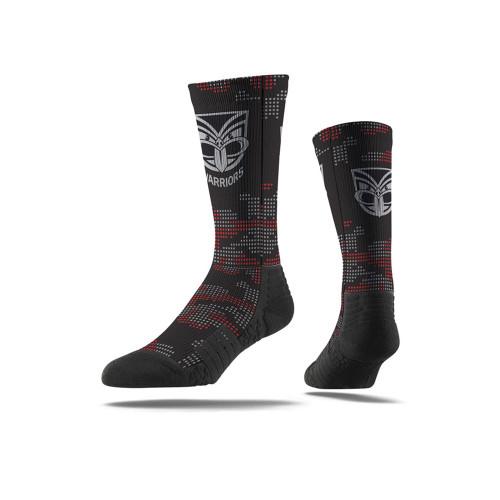 Warriors Strideline Camo Crew Socks