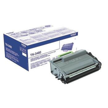 Brother Black High Yield Toner TN3480 Rendimiento de página 8000