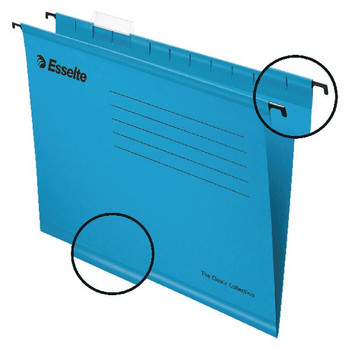 Esselte Classic A4 Blue Suspension File (Paquete de 25) 90311