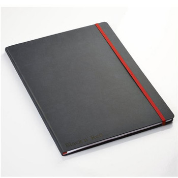 Black n Red A4 Black Casebound Hardback Notebook 400038675