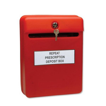 Helix Post / Suggestion Box Red W81060