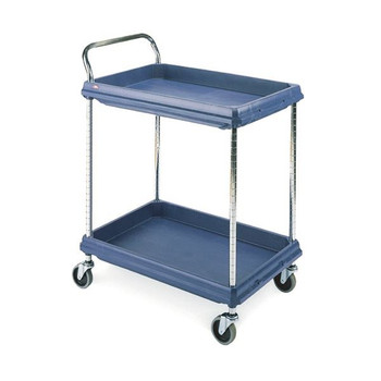 2 Tier Blue H1041xW832xD546mm Deep Ledge Trolley 322442
