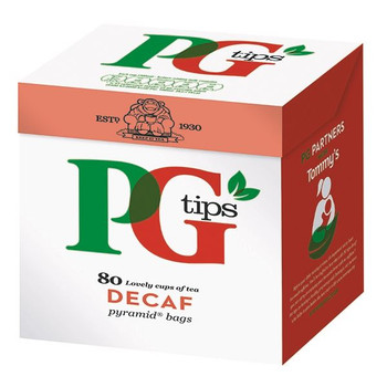 PG Tips Pyramid Tea Bag descafeinado (paquete de 80) 28618501