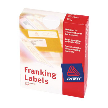 Avery Franking Label Double All Machines Blanco 140 mm x 38 mm (paquete de 1000) FL01
