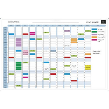 Exacompta Magnetic Drywipe Perpetual Year Planner 56153E