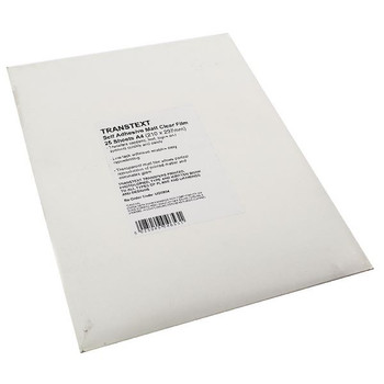 Transtext Self-Adhesive Clear A4 Film 210mmx297mm (Paquete de 25) UG6904