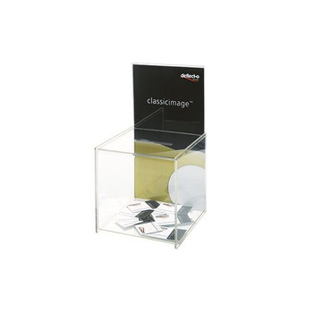 Deflecto Clear Suggestion Box / Sign Holder DE66001