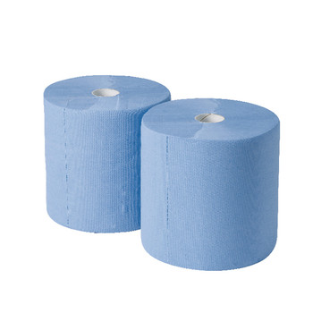 2Work 170mx250mm Blue Indust Roll Pk2