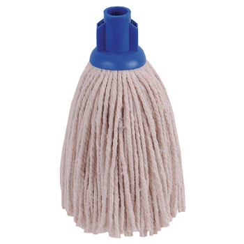 2Work 12oz PY Smooth Mop Blue PK10