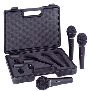 Behringer Black Dynamic Microphone (Paquete de 3) XM1800S en Carry Case Beh