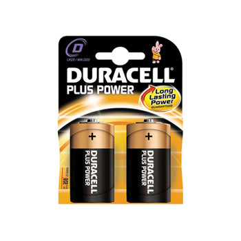 2 pilas alcalinas Duracell Plus Power D