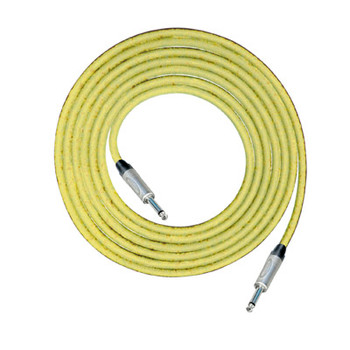 Amarillo 1 m Neutrik 6.35 mm Mono Jack Plug (NP2X) a Neutrik 6.35 mm M