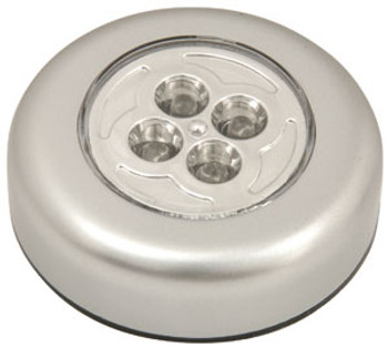 4 LED redondo Push-on Light (410.324UK)