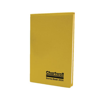 Chartwell Weather-Resistant Survey Libro de campo 130x205mm Amarillo 2006