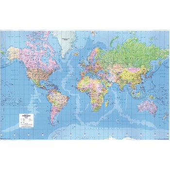 Map Marketing Giant World Mapa laminado político GWLD
