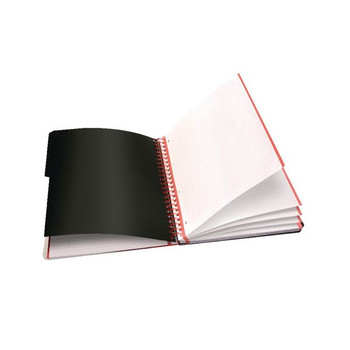 Black n Red A4 Plus Hardback Wirebound Project Book 200 páginas (paquete de 3) 100080730