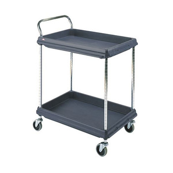 2 niveles de negro 832x546x1041mm Deep Ledge Trolley 322441