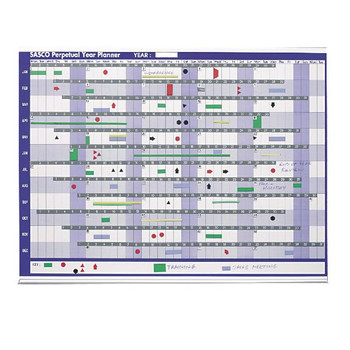 Sasco Magnetic Perpetual Year Planner 2400001