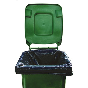 2Work Black Wheelie Bin Liners Medium Duty (paquete de 100) 2W01167