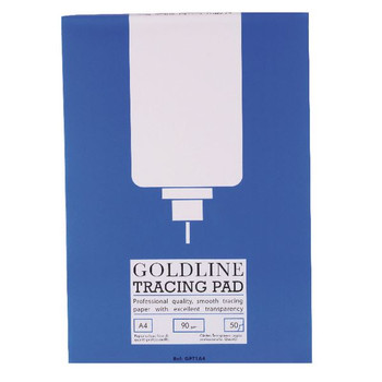 Goldline Professional A4 Tracing Pad 90gsm 50 hojas GPT1A4