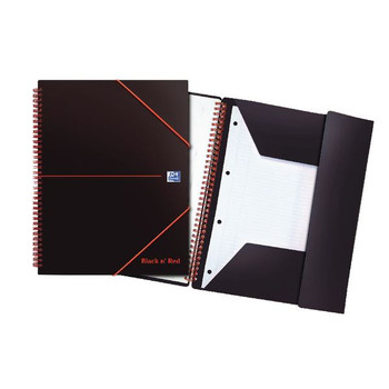 Black n Red A4 Plus Wirebound Polypropylene Libro de reuniones 160 páginas (paquete de 5) 100104323