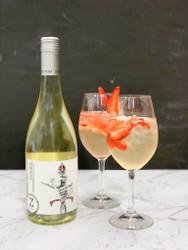 Strawberry Excalibur Sauvignon Blanc Cocktail