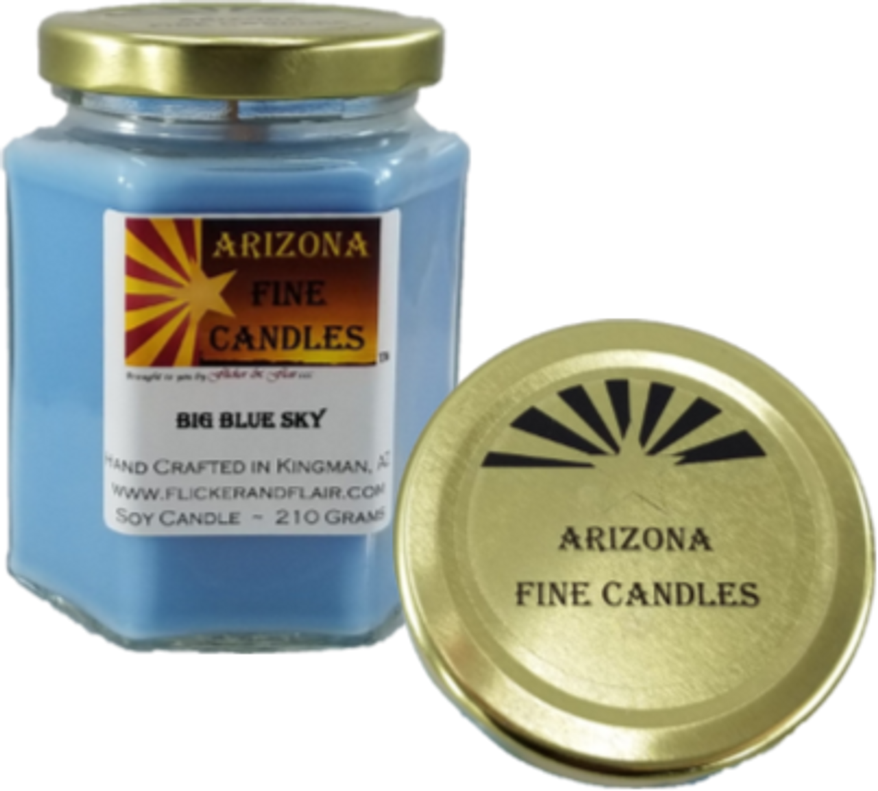 AZ Fine Candles 210g Soy Hexagon Jar