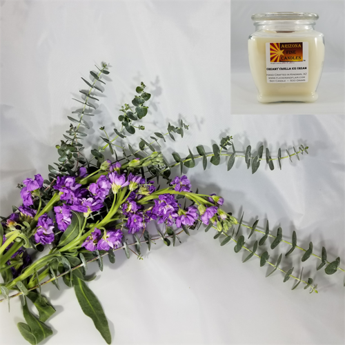 Lavender & Eucalyptus 500g Soy Footed Jar Candle