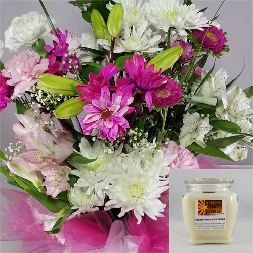 Romantic Bouquet 500g Soy Footed Jar Candle