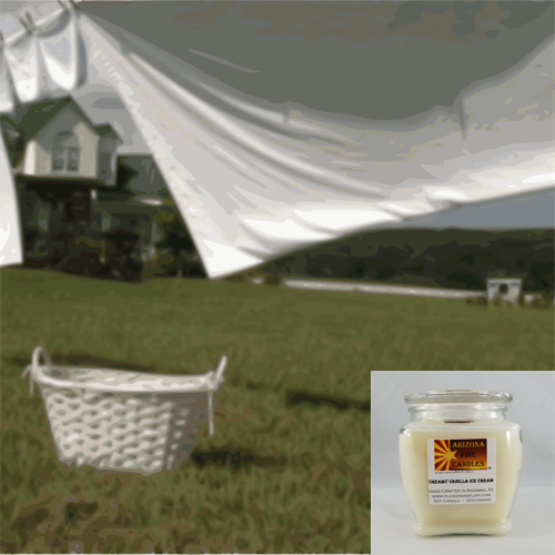 Cotton Breeze 500g Soy Footed Jar Candle