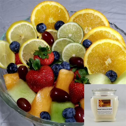 Fresh Fruit 500g Soy Footed Jar Candle