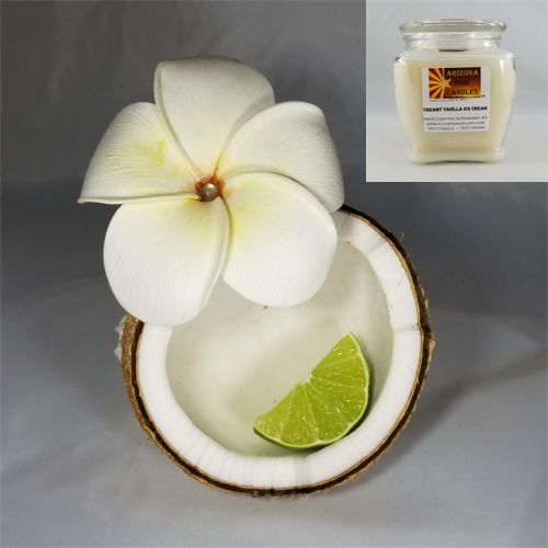 Hawaiian Coconut 500g Soy Footed Jar Candle