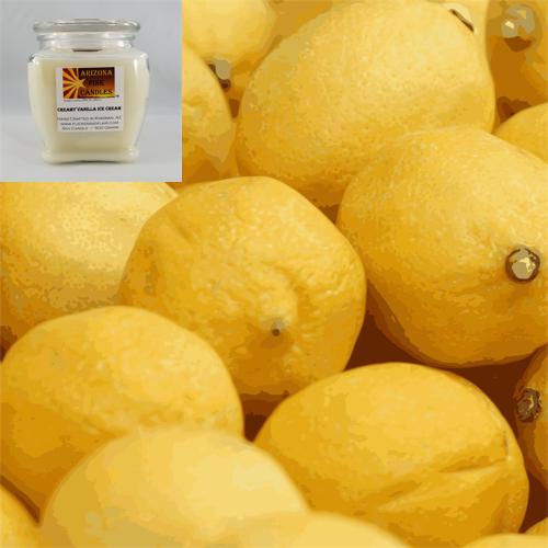 Lemon Chiffon 500g Soy Footed Jar Candle