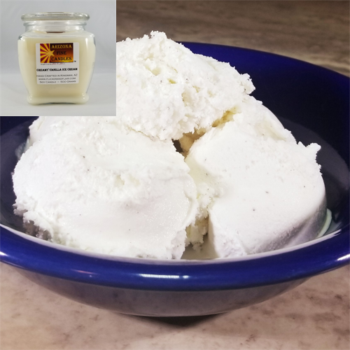 Creamy Vanilla Ice Cream 500g Soy Footed Jar Candle
