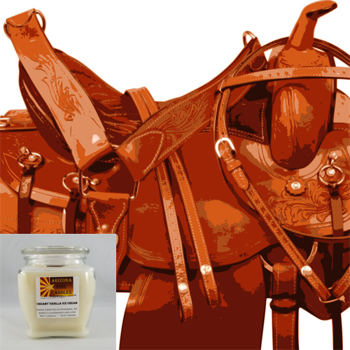 Lustrous Leather 500g Soy Footed Jar Candle