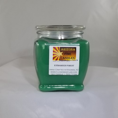 Evergreen Forest 500g Soy Footed Jar Candle