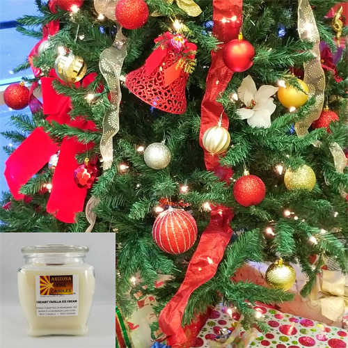 Holiday Cheer 500g Soy Footed Jar Candle