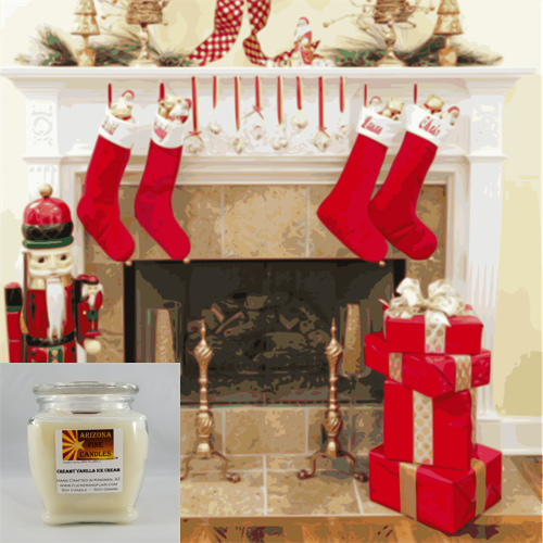 Stocking Stuffer 500g Soy Footed Jar Candle