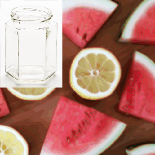 Sweet Summer Time 210g Hexagon Jar Soy Candle